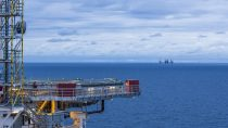 Offshore Plattform Brage in Norwegen / Brage offshore platform i
