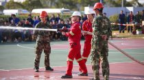 BASF and Shanghai Chemical Industry Park co-host a firefighting contest at BASF Caojing site on November 23, to enhance fire safety awareness and emergency response capabilities.