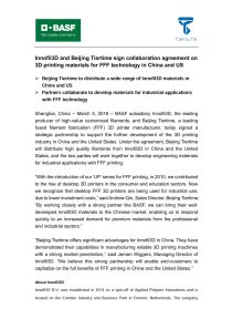 "Download Press Release ""Innofil3D and Beijing Tiertime sign collaboration agreement on 3D printing materials for FFF technology in China and US"""
