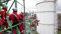 Höhenrettungsübung bei BASF im Werk Ludwigshafen