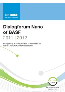 Dialogforum Nano of BASF 2011/2012