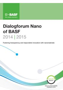 Dialogforum Nano of BASF 2014/2015