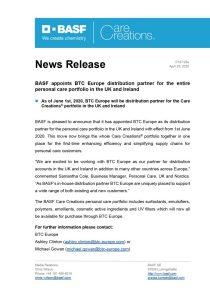 Lorenzo Bottinelli nuovo amministratore delegato di BASF Italia - ICF