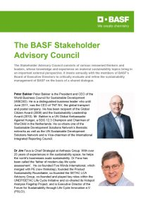 Members of the Stakeholder Advisory Council