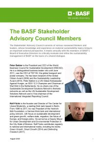 BASF Stakeholder Advisory Council