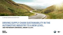 DRIVING SUPPLY CHAIN SUSTAINABILITY IN THE AUTOMOTIVE INDUSTRY TO A NEW LEVEL.