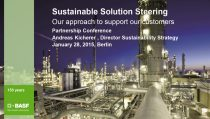 Sustainable Solution Steering, Our approach to support our customers