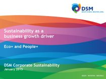 Sustainability as a business growth driver, Eco+ and People+