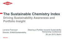 The Sustainable Chemistry Index