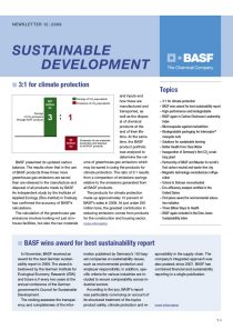 SD Update – Newsletter Sustainable Development