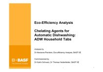 Eco-efficiency Analysis: Chelating Agents in Automatic Dishwashing Household Tabs