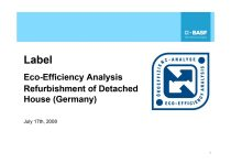 Eco-Efficiency Analysis Refurbishment of Detached House (Germany)