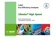 Label Eco-Efficiency Analysis - Ultradur ® High Speed