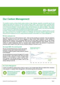 Our Carbon Management