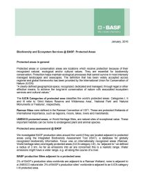 Biodiversity and Ecosystem Services at BASF: Protected Areas