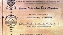 From the Imperial Patent Office, founded in 1877: The first German dye patent protects the production process for methylene blue.