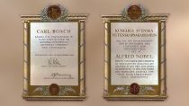 Nobel prize diploma for the development of high-pressure technology