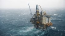 Offshore Plattform Brage in Norwegen / Brage offshore platform in Norway