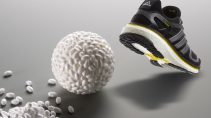 Adidas boost running shoe with granulate ball
