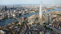 Bird's eye view of the city of London