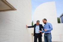 Luis Carlos Mendoza, Market Manager BASF Iberia and Fran Talavera, Project Manager Repair Project Fundació Joan Miró look on a successful project: With the corrosion protection MasterProtect 8000 CI renovation costs of the museum remained approximately 60% below the costs for a complete refurbishment.
