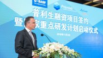 Markus Solibieda, Managing Director of BASF Venture Capital GmbH at the signing ceremony.
