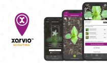 The xarvio Scouting app uses instant photo recognition to identify and map weed and disease threats in fields, allowing farmers to better control their crop production.