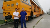BASF's waterborne coatings help railway maintenance machinery manufacturer, Beijing Ruiweitong Engineering Machinery, reduce emissions of volatile organic compounds.