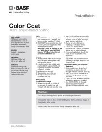 Color Coat Product Bulletin