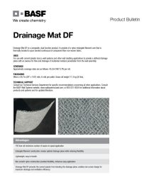 Drainage Mat DF Product Bulletin