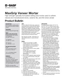 MaxGrip Veneer Mortar Product Bulletin