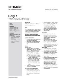 Poly 1 Product Bulletin