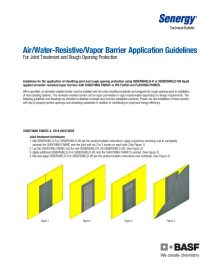 Air / Water-Resistive / Vapor Barrier Application Guidelines