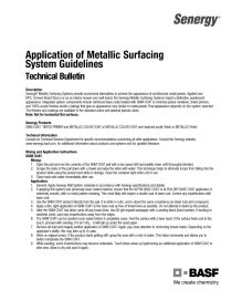 Application of Metallic Surfacing Systems' Guidelines Technical Bulletin