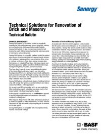 Technical Solutions for the Renovation of Brick and Masonry