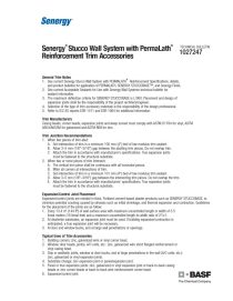 Senergy Stucco Wall System with PermaLath Reinforcement Trim Accessories