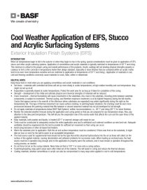 Cool Weather Application of EIFS, Stucco, and Acrylic Surfacing Systems Technical Bulletin