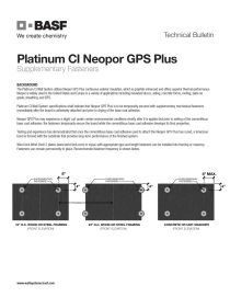 Supplementary Fasteners for Neopor GPS Plus