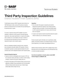 Third Party Inspection Guidelines Technical Bulletin