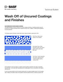 Wash Off of Uncured Coatings and Finishes Technical Bulletin